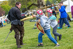[2014-04-19@13.42.16a] (Untempered Photography) Tags: boy costume child play medieval weapon sword shield mop armour reenactment canonef50mmf14 perioddress platearmour gambeson untemperedeye canoneos5dmkiii untemperedeyephotography glastonburymedievalfayre2014