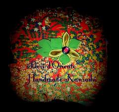 A flower with leaves: this hana kanzashi is a lovely pin or brooch to enrich your style.  Un fiore con le sue foglie: questo hana kanzashi  un fermaglio o una spilla graziosa per arricchire il tuo stile. Una flor para enriquecer tu estilo. Handmade kanza (fioridoriente) Tags: flowers flores flower cute love fleur look fashion japan handmade flor moda style maiko hana geisha kawaii kimono fiori fiore giappone spille tsumami kanzashi fioridoriente