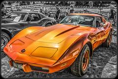 Chevrolet Corvette Stingray (C3) (Suggsy69) Tags: orange chevrolet car nikon automobile stingray corvette brandshatch selectivecolour d5200