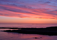 monach islands (plot19) Tags: uk blue sunset sea sky sun seascape sunrise landscape island scotland seaside northwest britain north british outer northern isle uist hebrides