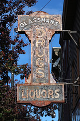 Glassman's Drugs Sign (jschumacher) Tags: newjersey paterson patersonnewjersey sign neonsign rusty old glassmans