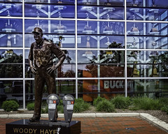 The Religion of Football and its Dieties (Steve Mitchell Gallery) Tags: football collegefootball religion fervor religiousfervor worship celebrate fans footballfans shrine shrines ncaa ohiostate buckeyes monuments statues trophy trophies ohiostateuniversity street