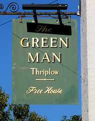 Green Man, Thriplow (beery) Tags: thriplow cambridgeshire england greenman pub sign signboard