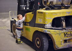 Forklift and toddler (Scott SM) Tags: forklift machine lowes store two year old toddler 2