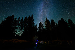 Me, Right Sized (Geoff Livingston) Tags: fypx tour milkyway stars might astrophotography pine trees person flashlight