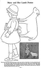Mary and her lamb pattern (katinthecupboard) Tags: school schoolprojects schooldrawings schoolposters seasonalactivities nurseryrhyme maryhadalittlelamb girl lamb