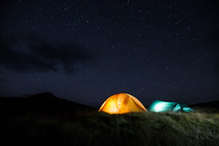Jura, Scotland (Ronkoteus) Tags: star stars night tent camping longexposure canon 6d canoneos6d skotland jura sky