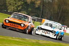 Ford Escort Mk1's (MPH94) Tags: oulton park cheshire north west motorsport motor sport race racing motorracing auto car cars october photography canon 500d cscc classic sports club special saloons modsports ford escort mk1 piers grange wayne crabtree bdt