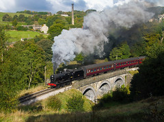 KWVR 43924 Mytholmes Viaduct, 9th Oct 2016 (Keith Halton) Tags: kwvr worthvalley railway steam yorkshire haworth 7822 34053