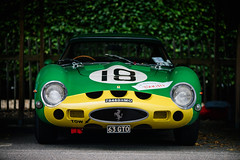 Anthony Bamford and Alain de Cadenet - 1962 Ferrari 250 GTO at the 2016 Goodwood Revival (Photo 5) (Dave Adams Automotive Images) Tags: 2016 9thto11th autosport car cars circuit daai daveadams daveadamsautomotiveimages grrc glover goodwood goodwoodrevival hscc historicsportscarclub iamnikon lavant motorrace motorracing motorsport nikkor nikon period racing revival september sussex track vscc vintage vintagesportscarclub davedaaicouk wwwdaaicouk jobamford anthonybamford alaindecadenet 1962ferrari250gto jcb 1962 ferrari 250 gto ferrarifriday green yellow classisracing italianclassic 3767gt 63gto