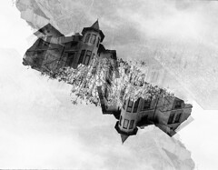 Double Exposure (Sju ND) Tags: bw double exposure architecture plovdiv film photography canon