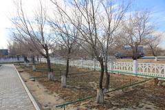 Gagarin and Korolev's houses garden (Brigitte Bailleul) Tags: baikonur cosmodrome kazakhstan museum gagarin