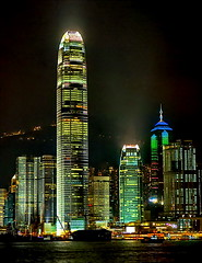 Hong Kong, 2IFC by Night (gerard eder) Tags: world travel reise viajes asia east hong kong architecture architektur arquitectura skyline skycraper wolkenkratzer rascacielos hongkong 2ifc night nacht noche