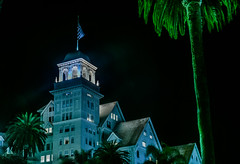 the haunted claremont hotel (pbo31) Tags: california nikon d810 color night dark black october fall 2016 eastbay alamedacounty boury pbo31 berkeley claremont hotel haunted green palm historic tower architecture fairmont creepy
