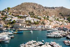 Hydra - Italianate Hillside Mansions & Harbour (Le Monde1) Tags: greece island hydra port coast monastery greek lemonde1 nikon d800e saronicislands aegean sea town italianate mansions hillside harbourside