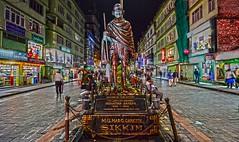 Gandhi Sikkim India DSC_0523 (JKIESECKER) Tags: gangtoksikkim india sikkimindia gandhi statues citylife cityscenes citystreets nighttime nighttimelights