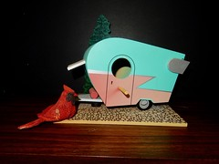 GARDEN FURNITURE:  Trailer bird house.