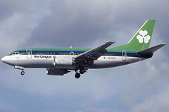 EI-CDS LHR 21-9-1993 (Plane Buddy) Tags: eicds boeing 737 737500 aerlingus heathrow lhr egll