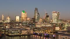City of London (Zibi_) Tags: city london riverthames walkie talkie bank riverside river twilight sunset lights photography cranes architecture capital uk
