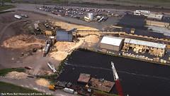 Superwood Corporation in Duluth, Minnesota 1989 B (Twin Ports Rail History) Tags: twin ports rail history by jeff lemke time machine duluth minnesota aerial photograph pulpwood industry superwood corporation hardboard 1989