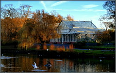 The Jewel in Southport's Crown (* RICHARD M (Over 5.5 million views)) Tags: heskethpark publicparks parks parkland water conservatory glasshouse windows glass december winter sunnysouthport southport sefton merseyside victorianarchitecture victorian victoriana birds lake trees lightandshade willow willowtrees paths pathways ironwork wroughtiron vapourtrails serenity peaceful peaceandquiet idyllic england unitedkingdom uk greatbritain gb britain britishisles scapes landscapes reflections beauty beautiful nature merseysideparks seftonparks weepingwillow weepingwillowtrees landscapearchitecture landscaped wintersun