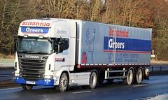 SCANIA R560 V8 - Britannia Greers Keith (scotrailm 63A) Tags: lorries trucks removals