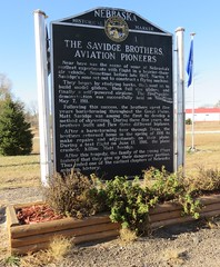 The Savidge Brothers, Aviation Pioneers Marker (Ewing, Nebraska) (courthouselover) Tags: nebraska ne nebraskahistoricalmarkers holtcounty ewing sandhills