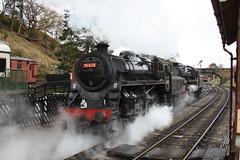 Double standards (feroequineologist) Tags: 76038 76079 76084 northyorkshiremoorsrailway nymr goathland railway train steam