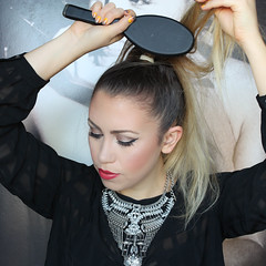 Easy Braided Top Knot Bun Hair Tutorial Aussie Living After Midnite Beauty Jackie Giardina (jackiegiardina) Tags: aussie beauty blonde braids bun cateye hair jackiegiardina lipstick livingaftermidnight livingaftermidnite makeup red topknot tutorial