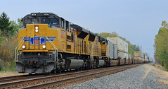 NS #205 west of Stryker (HighHor$epower) Tags: up8836 ns205 stryker countyroadf sd70ace sd70ah