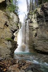 The Upper Falls (Patricia Henschen) Tags: banff nationalpark alberta canada banffnationalpark parkscanada parcs parks trail johnstoncanyon johnstoncreek waterfalls waterfall hike canyon creek canadianrockies upperfalls