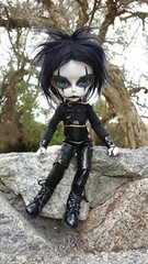 The Crow (Mel's Girls) Tags: doll hujoo thecrow ericdraven gothic ooak faceup custom handmadeoutfit