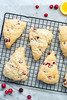 Glazed Cranberry Orange Scones (Yack_Attack) Tags: vegan vegetarian food recipe blog breakfast snack dessert treat scone cranberry orange glazed easy soyfree dairyfree eggfree baked holiday winter seasonal jackiesobon veganyackattack flaxseed foodphotographer foodstylist nikon d600 macro 60mm