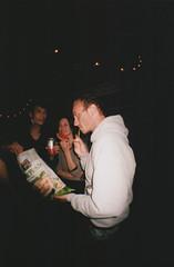 Julian and his little baby saxophone (Marta Grimalt) Tags: martagrimalt martagrimaltcanals 35mm film analog analogica california america united states eeuu estados unidos losangeles la highland park fisheye lomo lomography color julianshine
