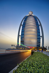 E.N.D (Almsaeed) Tags: dubai burj al arab hotel exposures digital blending moment light trail blue luxury street old archive canon colors sail seven stars grace yellow want be alone life view sea wide angel photography
