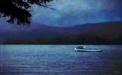 If I Had A Boat (sbox) Tags: lochlomond scotland digitalpainting digitalart painting painterly textures blue boat water lake