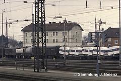Freilassing Bahnhof  03-1973 (Pacific11) Tags: eisenbahn train track railway railroad bayern freilassing bad reichenhall elok vintage alt 1973 bahnhof