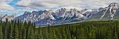 Mount Wintour and Gap Mountain (virgil martin) Tags: mountains landscape panorama peterlougheedprovincialpark alberta canada panasoniclumixfz1000 oloneo microsoftice gimp
