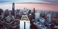 'Bangkok skyline' (Castelaze_Studio) Tags: bangkok skyline skyscrappers buildings tower city cityscape thailand panorama future sunset cloud 47 cloud47 rooftop french castelaze canon towers thailande fisheye