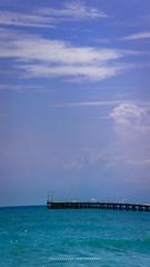 Pier (dtrajan) Tags: architecture beach tamilnadu banks beauty bliss blues clouds colors india landscape light matte pier puducherry rock scenic sea shore skies south travel view water