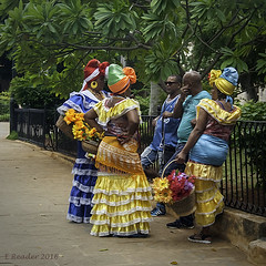 Colorful Ladies of Havana (Greatest Paka Photography) Tags: traditional costume dress women oldhavana habanavieja cuba havana color street gele clothing african afrocuban spanish multicolored headwrap plazadearmas fashion cultural
