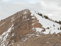 Peter towards the next summit (David R. Crowe) Tags: landscape mountain mountainscrambling nature outdooractivities scrambling turnervalley alberta canada