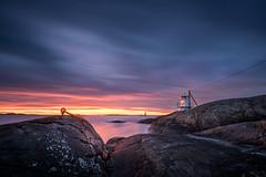 Klava sun down (C Lindberg) Tags: seascape lighthouse sunset longexposure hnklva