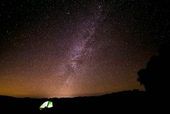 Camping Under the Nevada Sky (dougsandquist) Tags: ifttt 500px milky way stars sky night long exposure light blue lights photography nightscape travel desert nevada tent camping