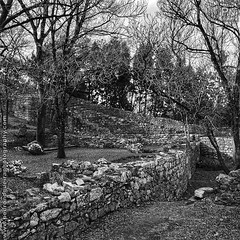 Castle of Leiria 2/8 (Pedro Nogueira Photography) Tags: castle leiria portugal iphoneography blackandwhite monochrome pedronogueira pedronogueiraphotography iphone5 outdoor 12thcentury romanic gothic medieval
