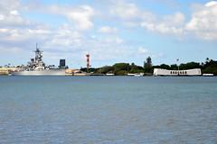 USS Missouri (BB-63) and USS Arizona (BB-39) (USS Arizona Memorial) - Pearl Harbor - November 2, 2013 279 RT CRP (TVL1970) Tags: nikon nikond90 d90 nikongp1 gp1 geotagged nikkor18105mmvr 18105mmvr hawaii oahu pearlharbor fordisland pearlharborvisitorcenter ship warship unitedstatesnavy usnavy usn ussarizonabb39 ussarizona bb39 ussarizonamemorial arizonamemorial pennsylvaniaclass battleship sunk sunk1941 ussmissouribb63 ussmissouri bb63 iowaclass mightymo bigmo fordislandtower fordislandcontroltower controltower