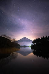 Starry night (mt.moco) Tags: mtfuji night star fog cloud a7r2 panorama reflection