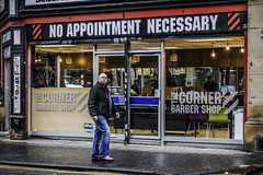 Services not required (tootdood) Tags: canon70d streetcandid candid manchester stevenson square barbers hair dressers corner noappointmentnecessary services required