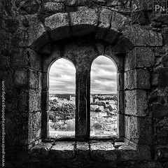 Castle of Leiria 5/8 (Pedro Nogueira Photography) Tags: castle leiria portugal iphoneography blackandwhite monochrome pedronogueira pedronogueiraphotography iphone5 outdoor 12thcentury romanic gothic medieval