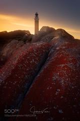 josh vince (DRoofing163) Tags: sky landscape sunset sun light clouds coast coastline lighthouse rocks summer seascape coastal landa